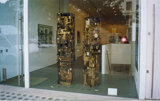 One of my favourite London galleries is England & Co. These are two of my towers in a show in their Westbourne Grove gallery in 2002.
