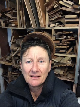 A selfie in front of the wood store