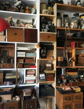 Recently I sorted through all the stuff I've collected over the years, I built new shelves and drawers to house it - and now I can't find anything!!