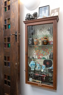 Bespoke door with cabinet