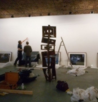 Setting up the Human Nature group show at the Centrespace gallery in Bristol. 2015