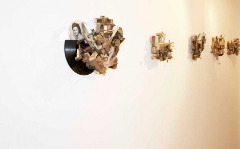 A series of constructions at the Nancy Victor gallery